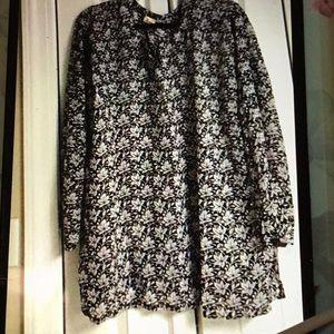 Plus size embellished blouse